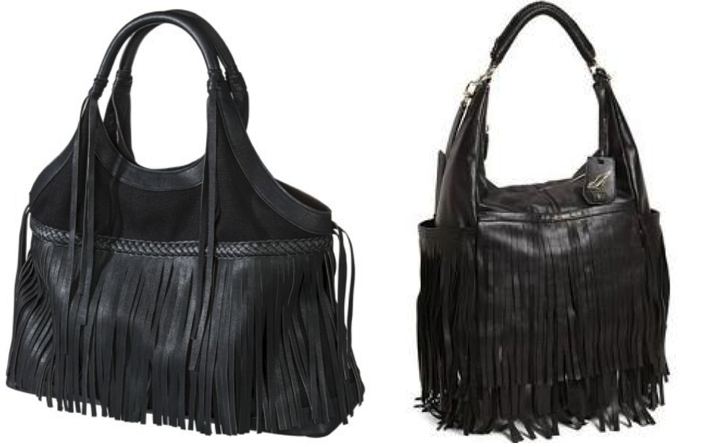 Steal Splurge - Black Fringe Bag