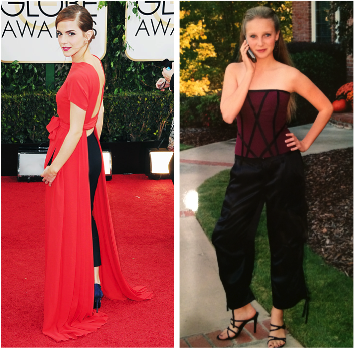Allison and Emma - Stole my look - Golden Globes