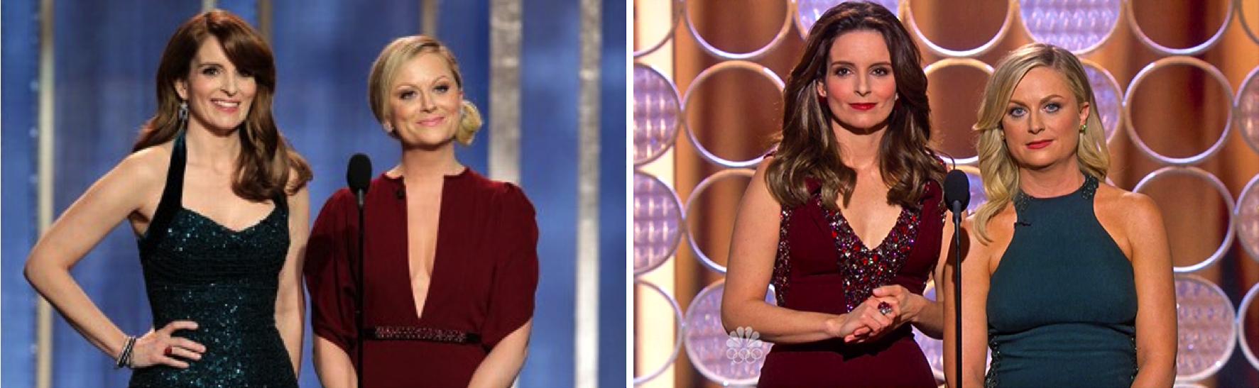 TinaFeyandAmyPoehler - Golden Globes 2013 & 2014