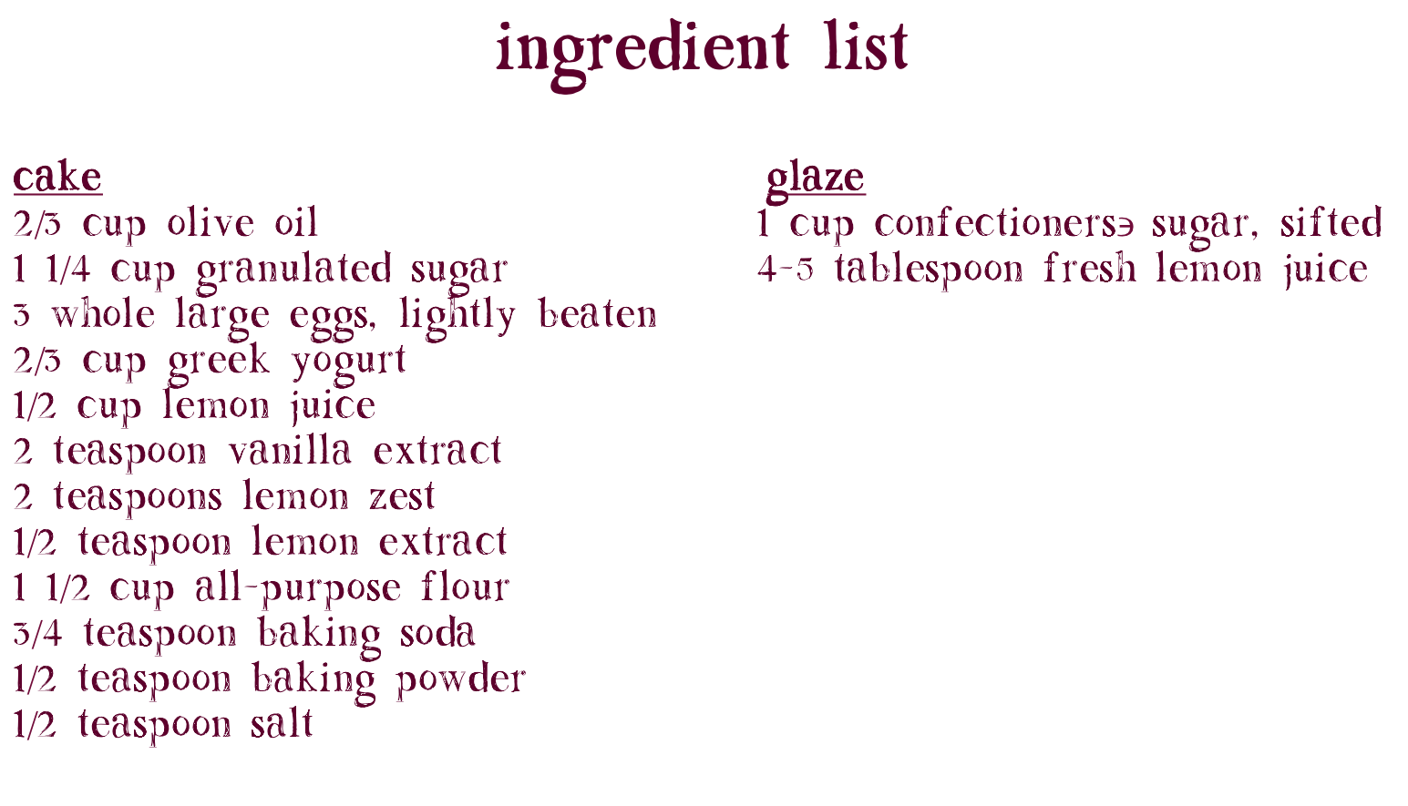 LemonyLoafCake-Ingredients